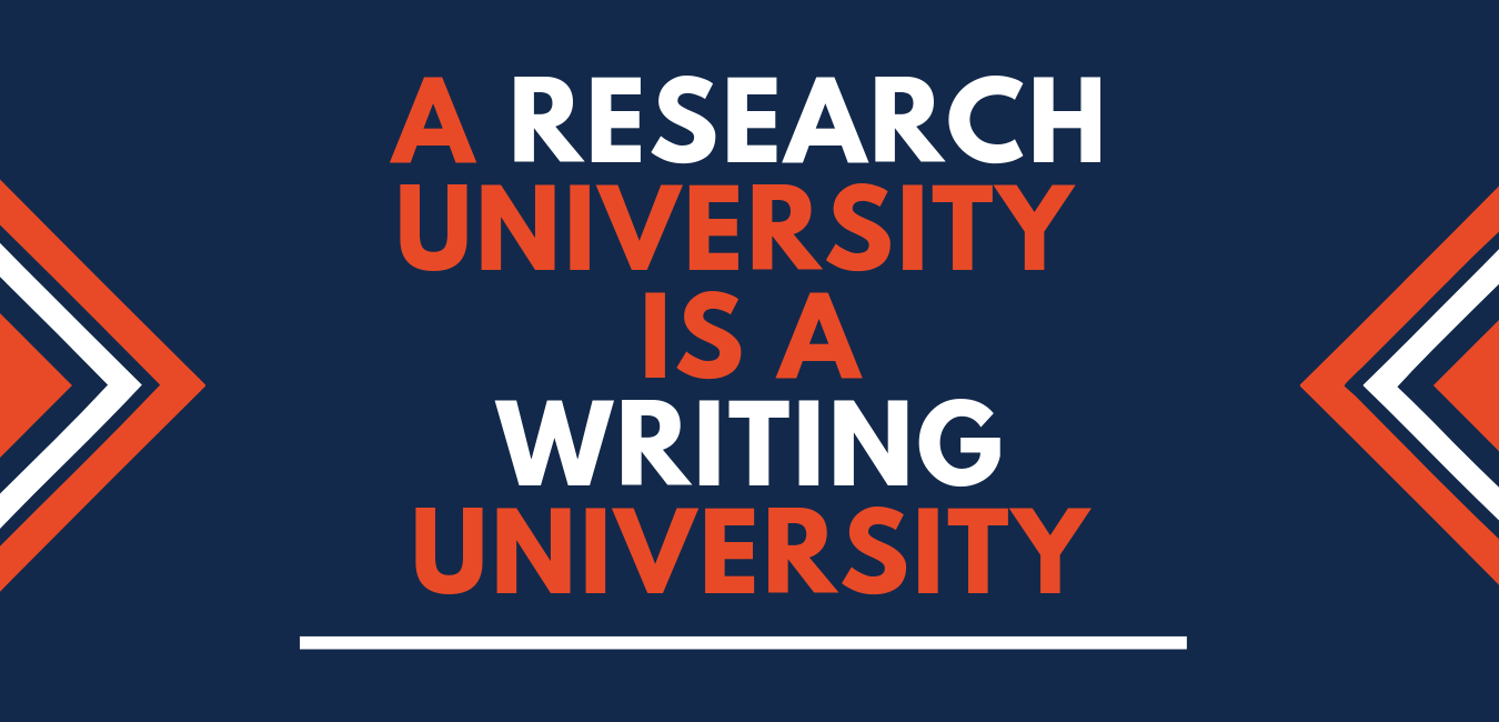A research university is a writing university
