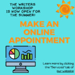 Flyer announcing Writers Workshop is open for Summer Session II