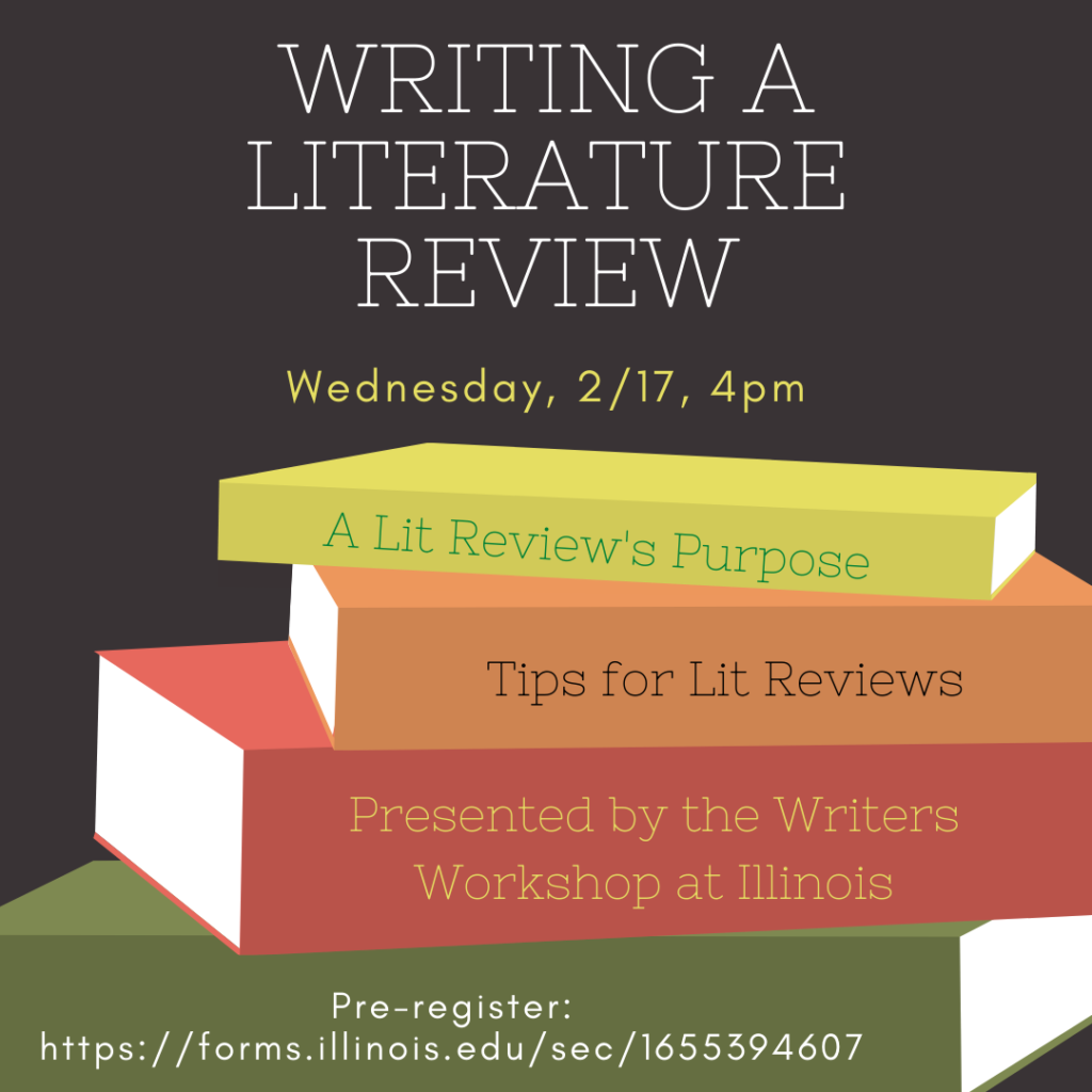 "Flyer for ""Writing a Literature Review"" Feb. 17, 4-5pm"