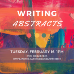 Flyer for Writing Abstracts