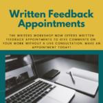 "Flyer for ""Written Feedback Appointments"""
