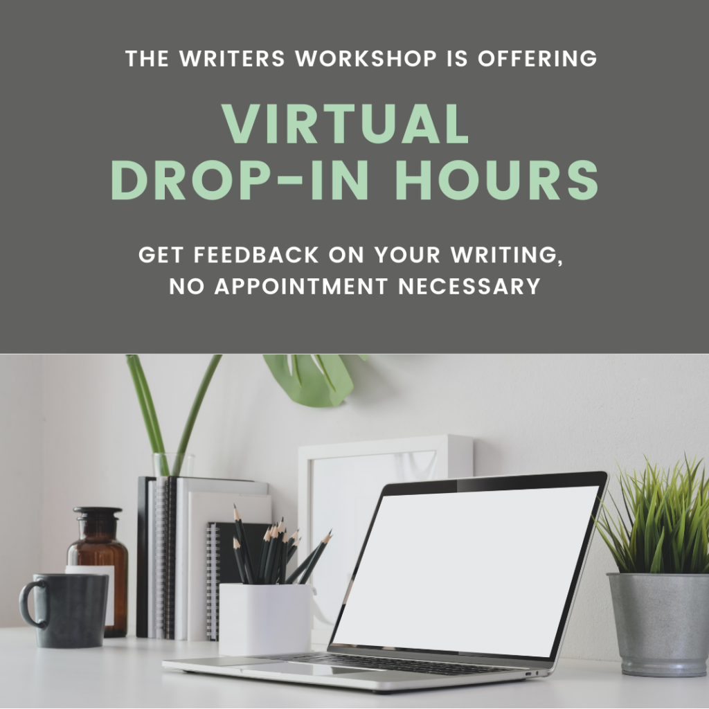 Flyer for virtual drop-in hours