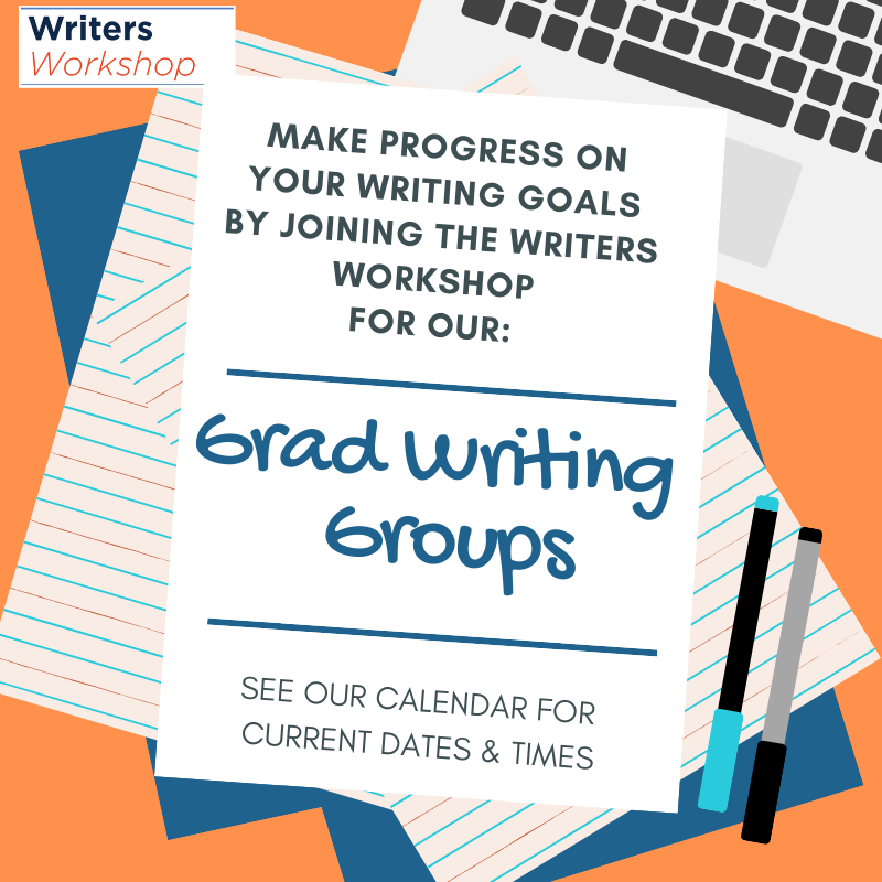 Flyer for graduate writing groups