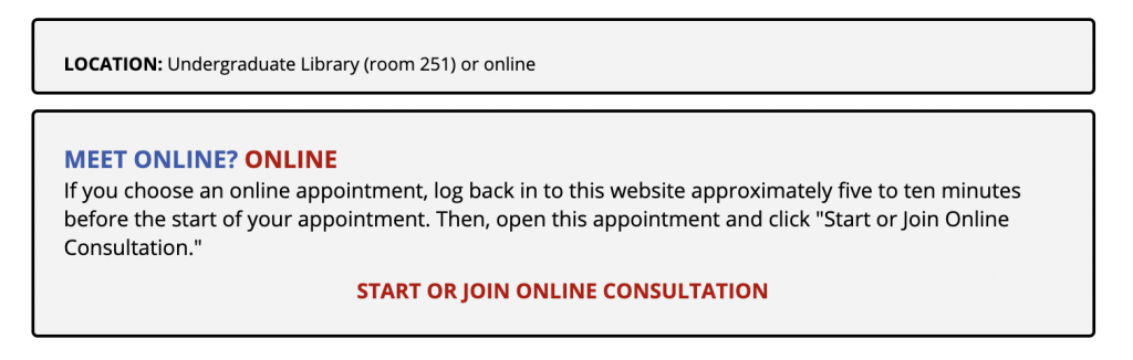 "Screenshot of ""Start or Join Online Consultation"" Prompt"